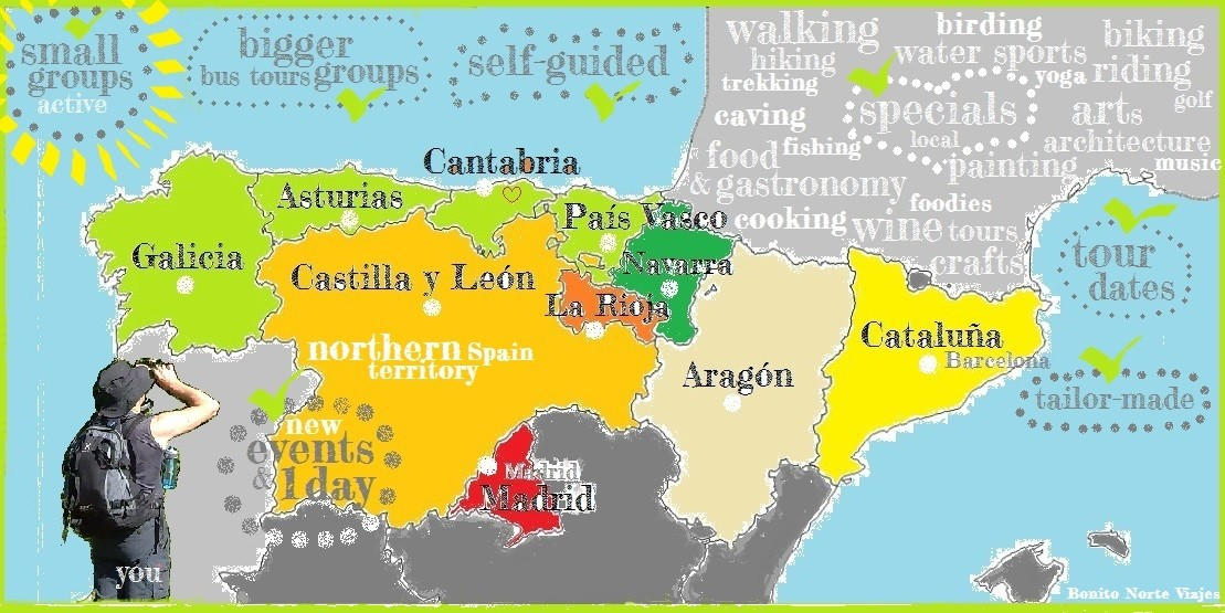 Map Of North Spain Coast.Active Holidays In Northern Spain