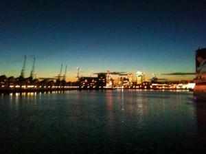 Night views from Royal Victoria Dock Bridge I
