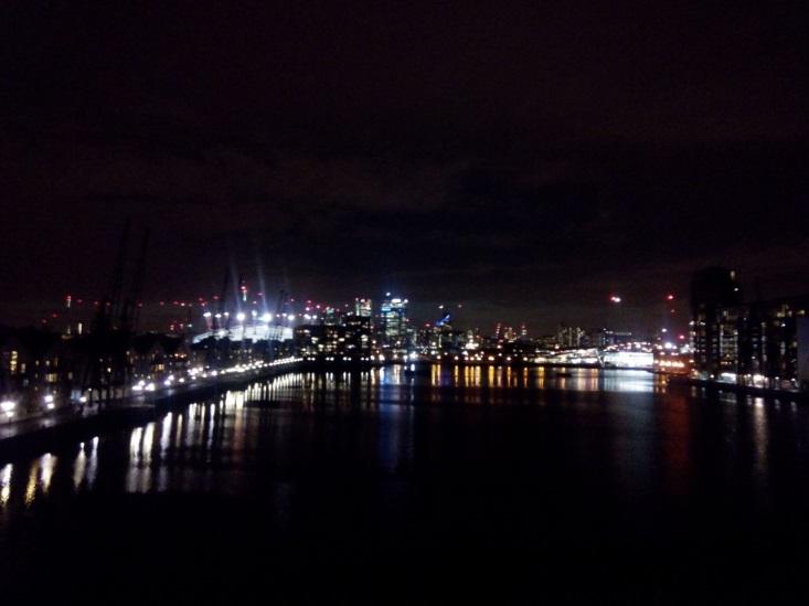 Night views from Royal Victoria Dock Bridge II