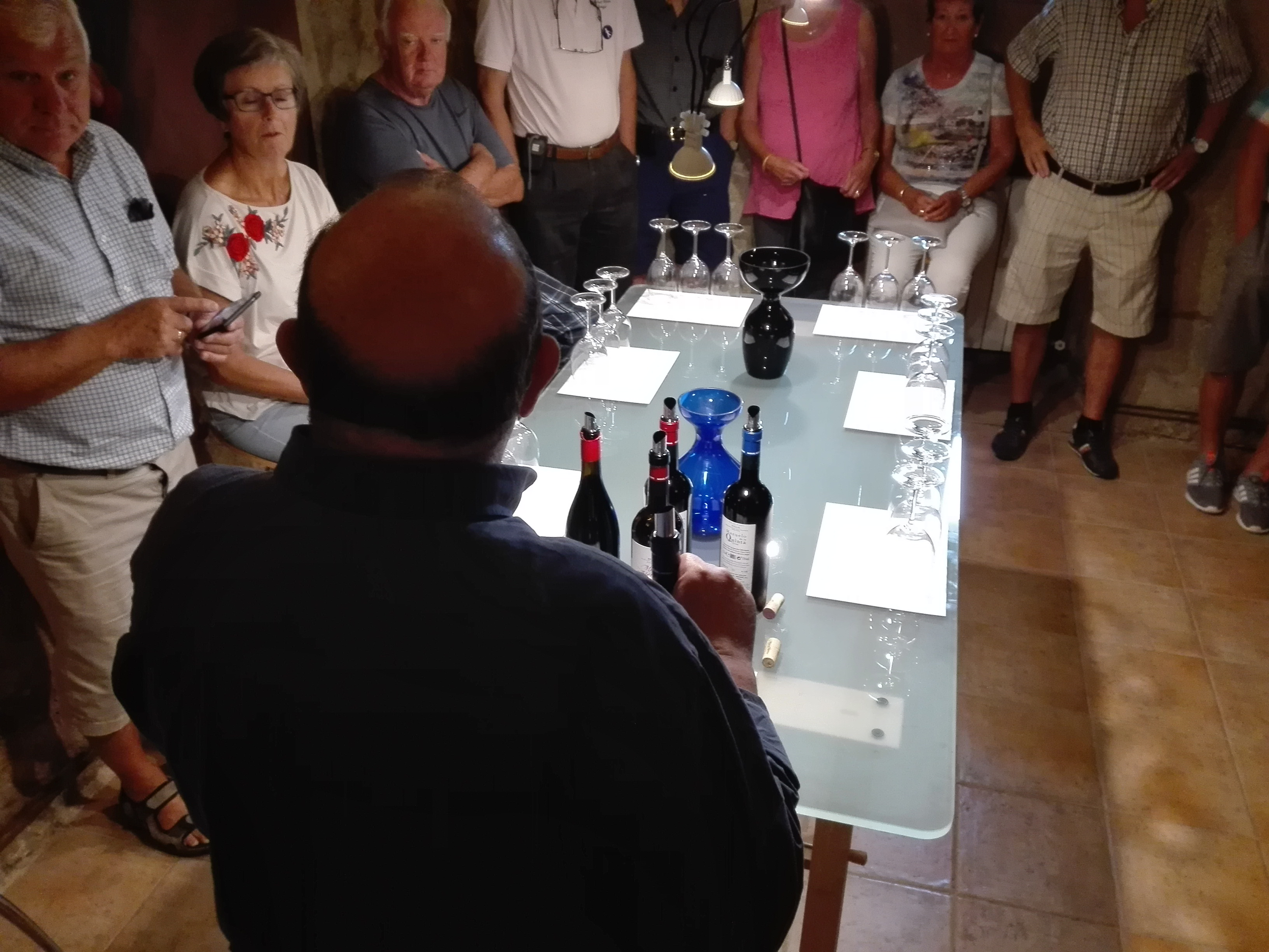 Photo of winery with presentation for importers